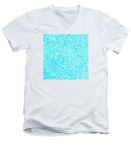 Bllue On Blue Men's V-Neck T-Shirt