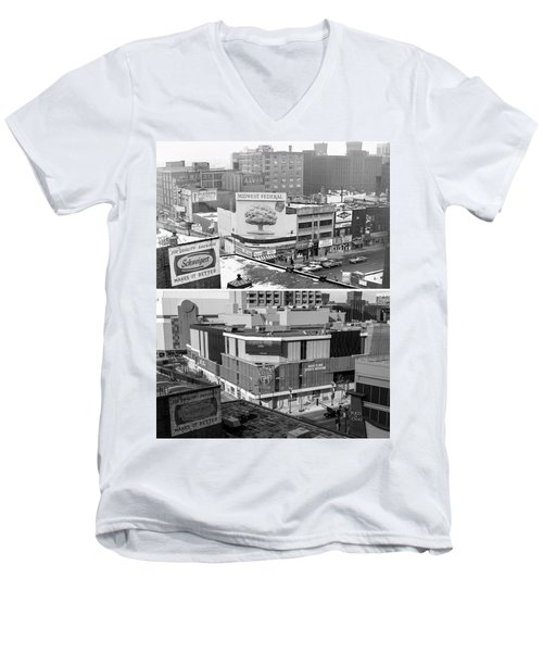 Block 'e' In Minneapolis Men's V-Neck T-Shirt