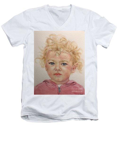 Blonde Girl Men's V-Neck T-Shirt
