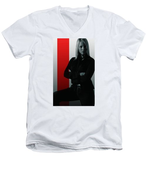 Men's V-Neck T-Shirt featuring the photograph Blonde With Attitude by Bob Pardue