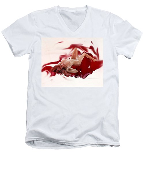 Blood Bath Men's V-Neck T-Shirt