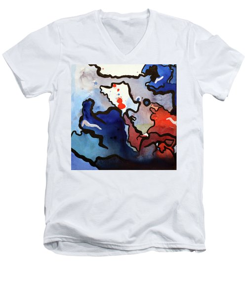Blood In The Water 1 Of 4 Men's V-Neck T-Shirt