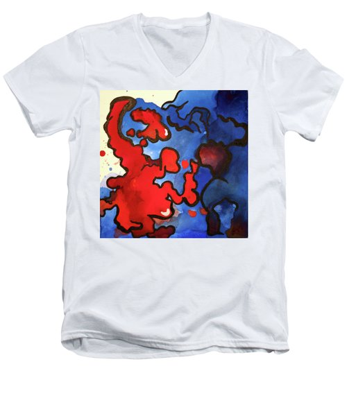 Blood In The Water 3 Of 4 Men's V-Neck T-Shirt