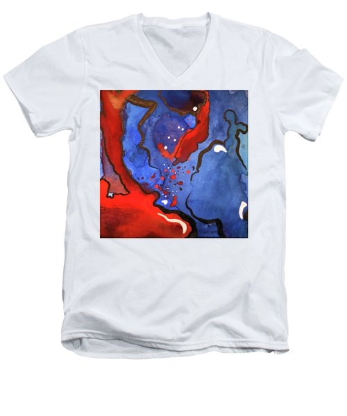 Blood In The Water 4 Of 4 Men's V-Neck T-Shirt