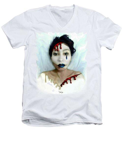 Blood Sweat Tears Faced Men's V-Neck T-Shirt