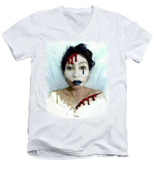 Blood Sweat Tears Faced Men's V-Neck T-Shirt