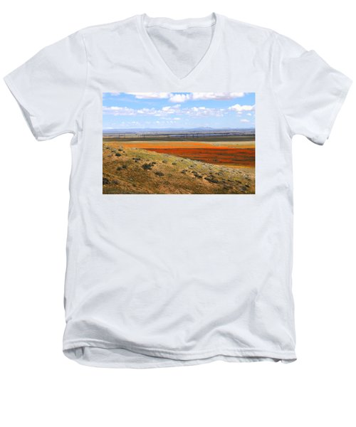 Men's V-Neck T-Shirt featuring the photograph Blooming Season In Antelope Valley by Viktor Savchenko