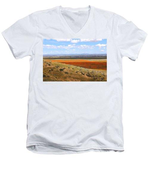 Blooming Season In Antelope Valley Men's V-Neck T-Shirt