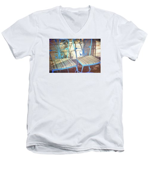 Blooming Seats Men's V-Neck T-Shirt by JAMART Photography