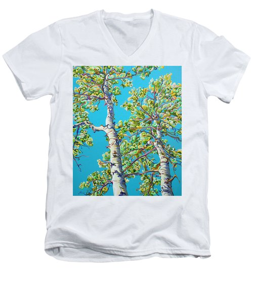 Blossoming Creativitree Men's V-Neck T-Shirt