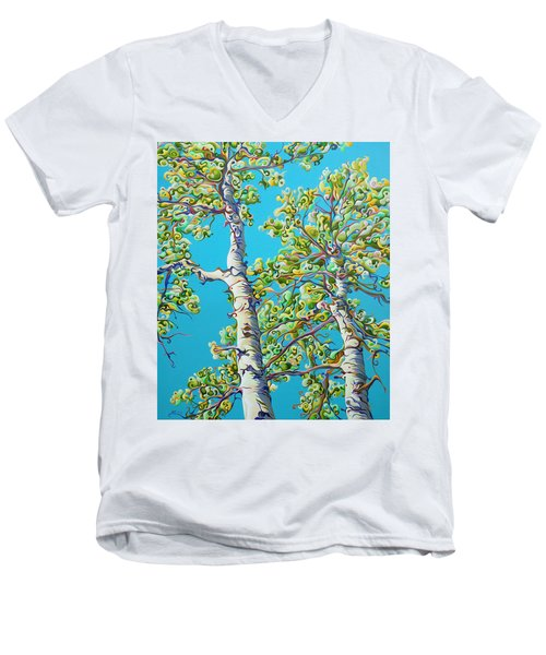 Blossoming Creativitree Men's V-Neck T-Shirt