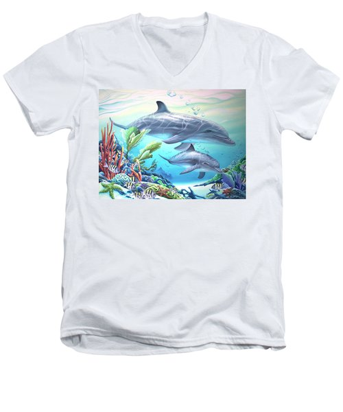 Blowing Bubbles Men's V-Neck T-Shirt by William Love