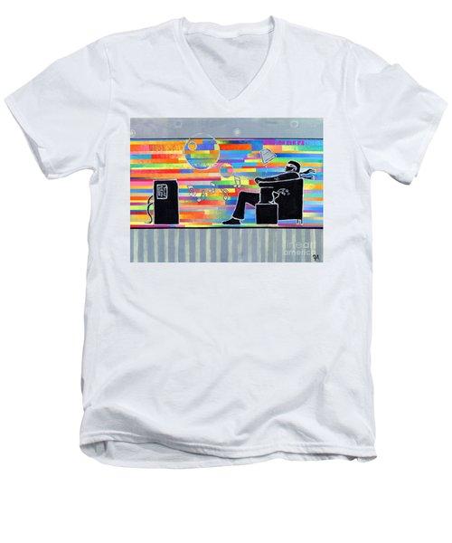 Blown Away Jeremy Style Men's V-Neck T-Shirt