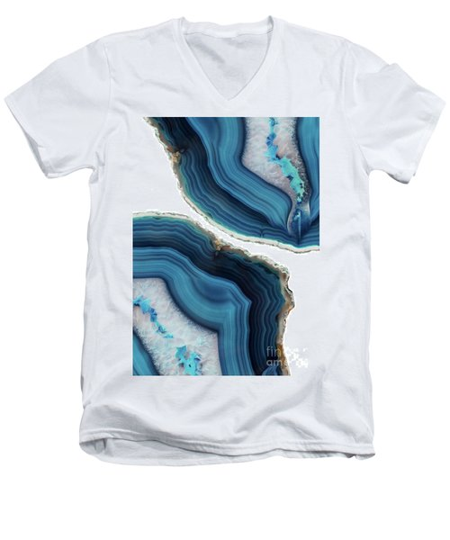 Blue Agate Men's V-Neck T-Shirt