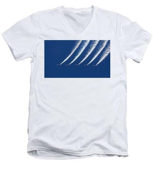 Blue Angels Formation Men's V-Neck T-Shirt by John A Rodriguez