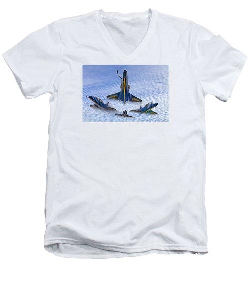 Blue Angels V.2 Electric Edition Men's V-Neck T-Shirt