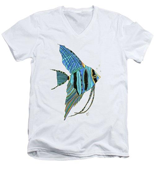 Blue Anglefish Men's V-Neck T-Shirt