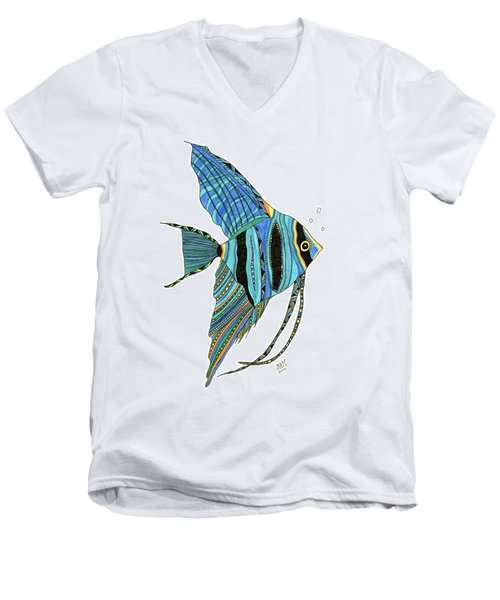 Blue Anglefish Men's V-Neck T-Shirt