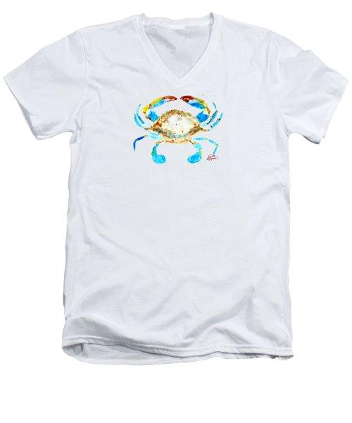 Blue Crab By Jan Marvin Men's V-Neck T-Shirt