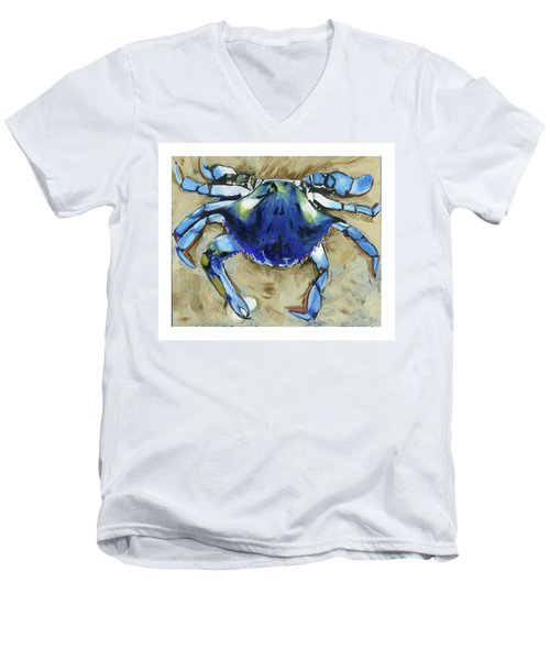 Blue Crab Men's V-Neck T-Shirt