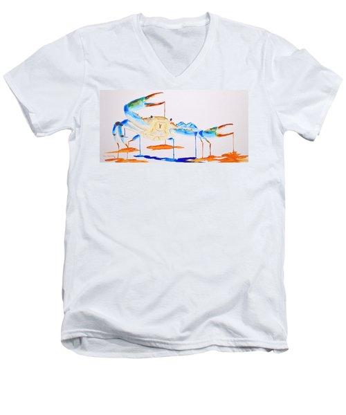 Blue Crab Men's V-Neck T-Shirt