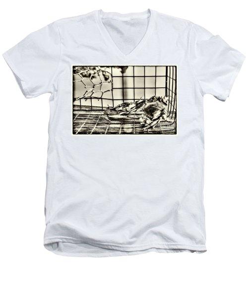 Blue Crabs - Vintage Men's V-Neck T-Shirt