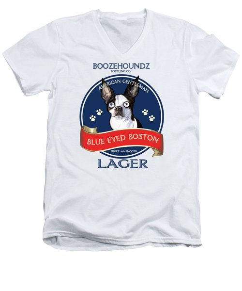 Blue Eyed Boston Lager Men's V-Neck T-Shirt