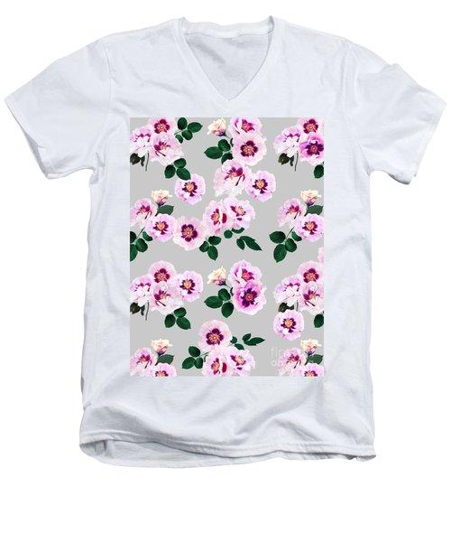 Blue Eyes Roses Men's V-Neck T-Shirt