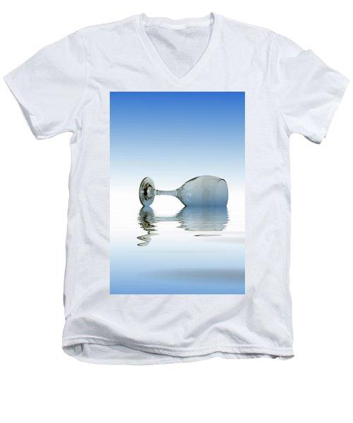Blue Glass Men's V-Neck T-Shirt by David French