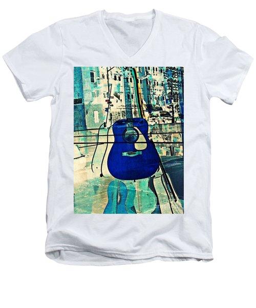 Blue Guitar Men's V-Neck T-Shirt