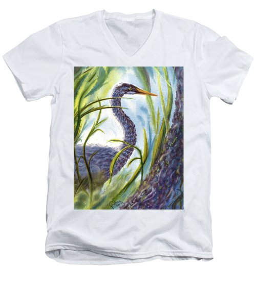 Blue Heron Men's V-Neck T-Shirt
