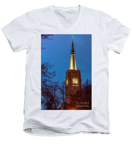Blue Hour Steeple Men's V-Neck T-Shirt