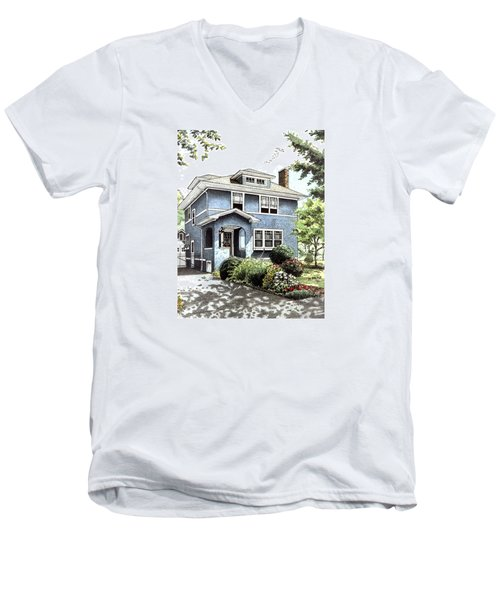 Blue House Men's V-Neck T-Shirt