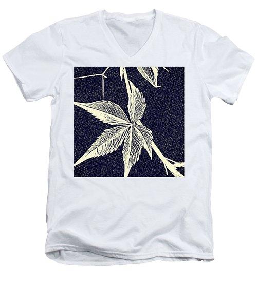Blue Leaf Men's V-Neck T-Shirt