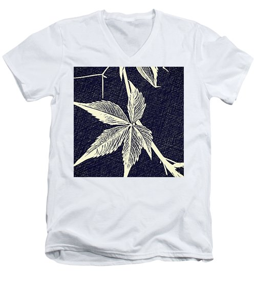 Blue Leaf Men's V-Neck T-Shirt