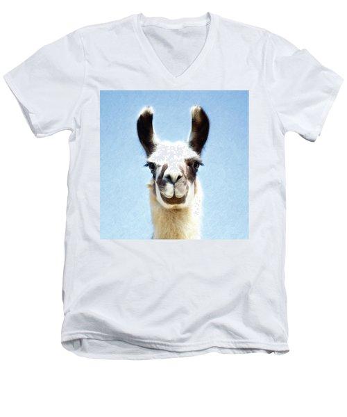 Blue Llama Men's V-Neck T-Shirt