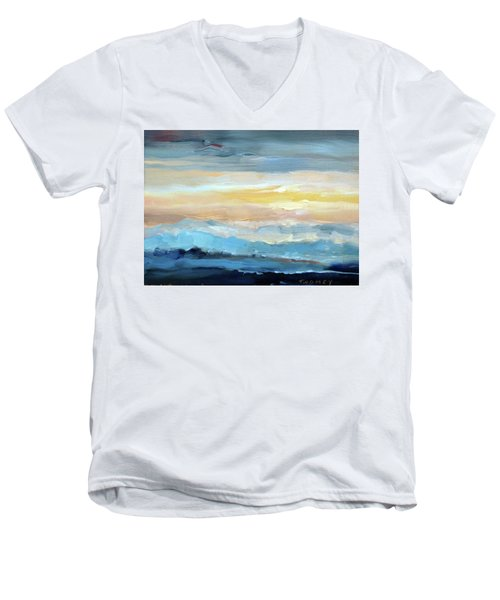 Blue Ridge Mountain Sunset 1.0 Men's V-Neck T-Shirt