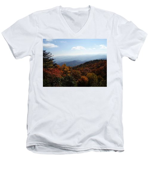 Blue Ridge Mountains Men's V-Neck T-Shirt