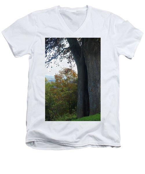 Blue Ridge Parkway Tree Men's V-Neck T-Shirt