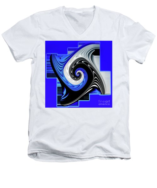 Blue River Men's V-Neck T-Shirt by Shadowlea Is