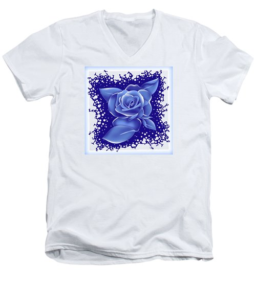 Blue Rose Men's V-Neck T-Shirt