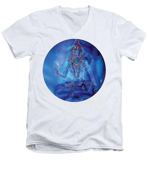 Blue Shiva  Men's V-Neck T-Shirt