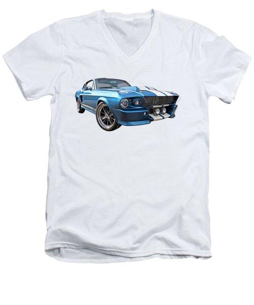 Blue Skies Cruising - 1967 Eleanor Mustang Men's V-Neck T-Shirt