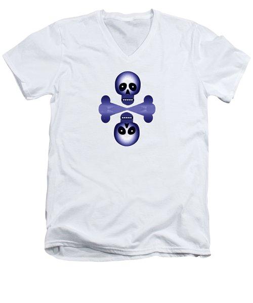 Blue Skulls Men's V-Neck T-Shirt
