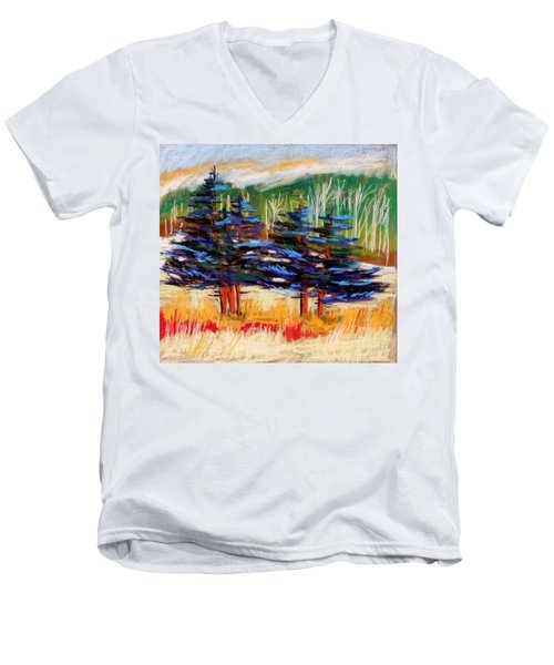 Blue Spruce Stand Men's V-Neck T-Shirt