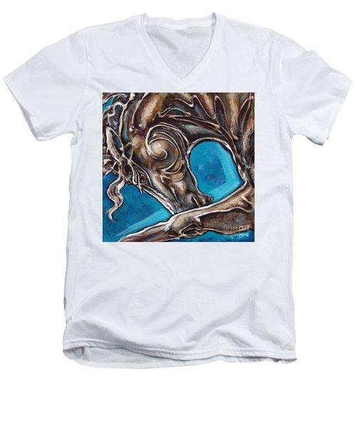 Blue Streak Men's V-Neck T-Shirt