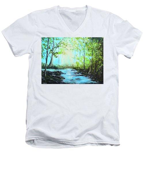 Blue Stream Men's V-Neck T-Shirt