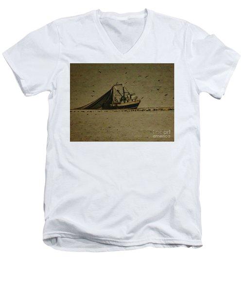 Blue Trawler 2 Men's V-Neck T-Shirt