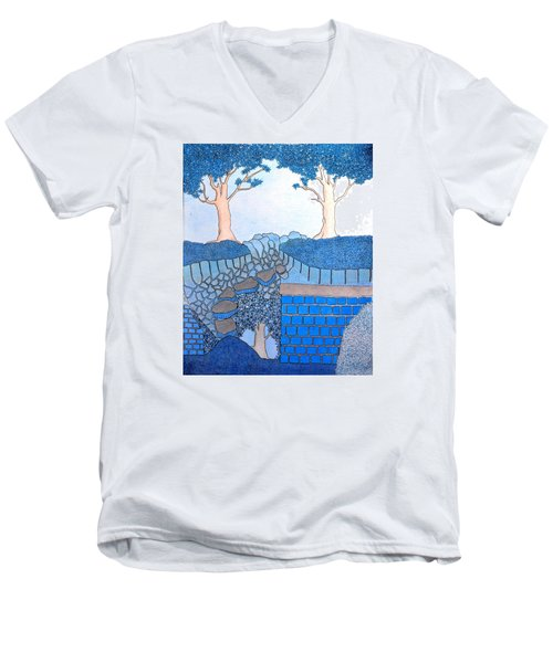 Blue Trees Men's V-Neck T-Shirt
