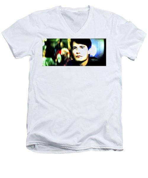 Blue Velvet  Men's V-Neck T-Shirt by Luis Ludzska
